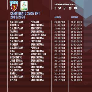 Calendario Iva 2020.Calendario Serie B Calcio 2019 2020 Salernitana Pescara Il 24